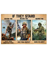 Gift For Veteran If They Stand Behind You Beside You Against You 17x11 Poster front