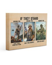 If They Stand Behind You Beside You Veteran Strong Gallery Wrapped Canvas Prints tile