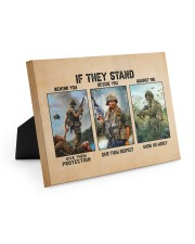 If They Stand Behind You Beside You Veteran Strong Easel-Back Gallery Wrapped Canvas tile