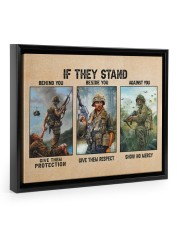 If They Stand Behind You Beside You Veteran Strong Floating Framed Canvas Prints Black tile