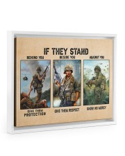 If They Stand Behind You Beside You Veteran Strong Floating Framed Canvas Prints White tile