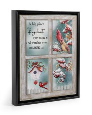 A Big Piece Of My Heart Lives In Heaven 11x14 Black Floating Framed Canvas Prints thumbnail