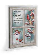 A Big Piece Of My Heart Lives In Heaven 11x14 White Floating Framed Canvas Prints thumbnail