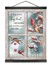 A Big Piece Of My Heart Lives In Heaven 16x20 Black Hanging Canvas thumbnail