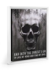 Into The Forest I Go To Lose My Mind And Find Soul Floating Framed Canvas Prints White tile