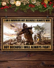 Gift For Veteran I Am Warrior Not Because I Always Win I Will Always Fight 17x11 Poster aos-poster-landscape-17x11-lifestyle-27
