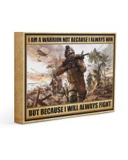 Gift For Veteran I Am Warrior Not Because I Always Win I Will Always Fight Gallery Wrapped Canvas Prints tile