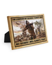 Gift For Veteran I Am Warrior Not Because I Always Win I Will Always Fight Easel-Back Gallery Wrapped Canvas tile