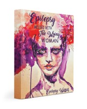 Epilepsy Awareness Messed With The Wrong Woman Gallery Wrapped Canvas Prints tile