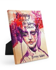 Epilepsy Awareness Messed With The Wrong Woman Easel-Back Gallery Wrapped Canvas tile