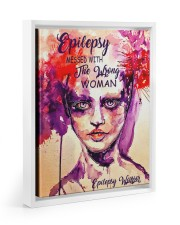 Epilepsy Awareness Messed With The Wrong Woman Floating Framed Canvas Prints White tile