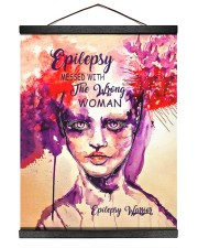 Epilepsy Awareness Messed With The Wrong Woman Hanging Canvas tile