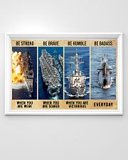 Be Strong Be Brave Be Humble Navy Veteran 36x24 Poster poster-landscape-36x24-lifestyle-02
