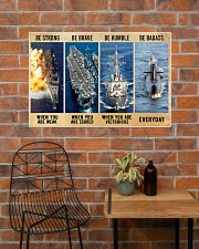 Be Strong Be Brave Be Humble Navy Veteran 36x24 Poster poster-landscape-36x24-lifestyle-20