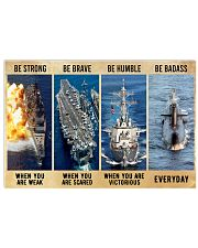 Be Strong Be Brave Be Humble Navy Veteran Horizontal Poster tile