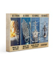Be Strong Be Brave Be Humble Navy Veteran 14x11 Gallery Wrapped Canvas Prints thumbnail