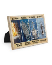 Be Strong Be Brave Be Humble Navy Veteran 10x8 Easel-Back Gallery Wrapped Canvas thumbnail