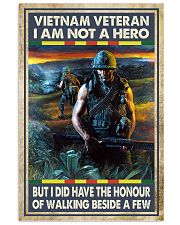 Vietnam Veteran I Am Not A Hero 11x17 Poster front