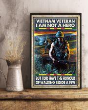 Vietnam Veteran I Am Not A Hero 11x17 Poster lifestyle-poster-3