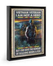 Vietnam Veteran I Am Not A Hero 11x14 Black Floating Framed Canvas Prints thumbnail
