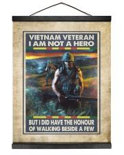 Vietnam Veteran I Am Not A Hero 16x20 Black Hanging Canvas thumbnail