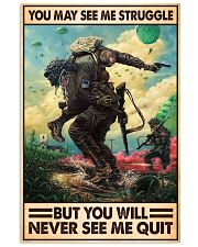 You May See Me Struggle Veteran 11x17 Poster front