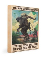 You May See Me Struggle Veteran 11x14 Gallery Wrapped Canvas Prints thumbnail