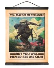 You May See Me Struggle Veteran 16x20 Black Hanging Canvas thumbnail