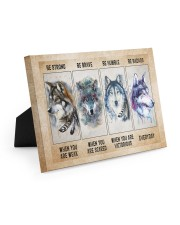 Be Strong When Weak Be Brave When Scared Be Humble 10x8 Easel-Back Gallery Wrapped Canvas thumbnail