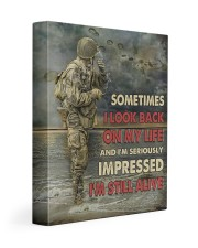 Sometimes I Look Back On My Life I'm Still Alive 11x14 Gallery Wrapped Canvas Prints thumbnail