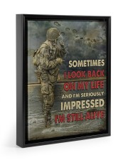 Sometimes I Look Back On My Life I'm Still Alive 11x14 Black Floating Framed Canvas Prints thumbnail