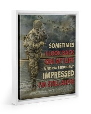 Sometimes I Look Back On My Life I'm Still Alive 11x14 White Floating Framed Canvas Prints thumbnail