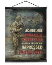 Sometimes I Look Back On My Life I'm Still Alive 16x20 Black Hanging Canvas thumbnail