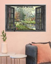 Gift For Cat lover Waiting At The Door 36x24 Poster poster-landscape-36x24-lifestyle-18