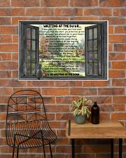Gift For Cat lover Waiting At The Door 36x24 Poster poster-landscape-36x24-lifestyle-20