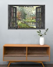 Gift For Cat lover Waiting At The Door 36x24 Poster poster-landscape-36x24-lifestyle-21