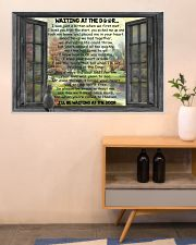 Gift For Cat lover Waiting At The Door 36x24 Poster poster-landscape-36x24-lifestyle-22