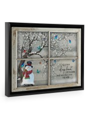 A Big Piece Of My Heart Lives In Heaven 14x11 Black Floating Framed Canvas Prints thumbnail