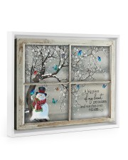 A Big Piece Of My Heart Lives In Heaven 14x11 White Floating Framed Canvas Prints thumbnail