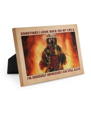 Sometimes I Look Back On My Life 10x8 Easel-Back Gallery Wrapped Canvas thumbnail