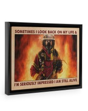Sometimes I Look Back On My Life 14x11 Black Floating Framed Canvas Prints thumbnail