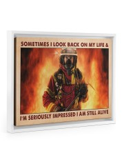Sometimes I Look Back On My Life 14x11 White Floating Framed Canvas Prints thumbnail