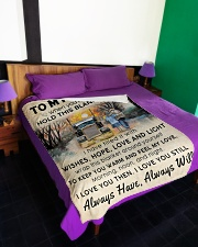 """To My Trucker When You Need Hug Hold This Blanket Large Fleece Blanket - 60"""" x 80"""" aos-coral-fleece-blanket-60x80-lifestyle-front-01"""