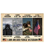 I Love Freedom I Am An Air Force Veteran 36x24 Poster front
