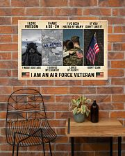 I Love Freedom I Am An Air Force Veteran 36x24 Poster poster-landscape-36x24-lifestyle-20