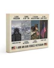 I Love Freedom I Am An Air Force Veteran Gallery Wrapped Canvas Prints tile