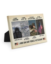 I Love Freedom I Am An Air Force Veteran Easel-Back Gallery Wrapped Canvas tile