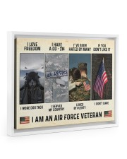 I Love Freedom I Am An Air Force Veteran Floating Framed Canvas Prints White tile