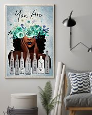 Black Gift Black Girl With Wreath You Are Amazing Special Loved 11x17 Poster lifestyle-poster-1