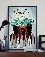 Black Gift Black Girl With Wreath You Are Amazing Special Loved 11x17 Poster lifestyle-poster-2